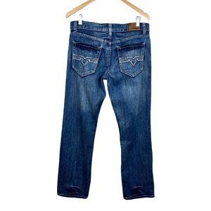 Flypaper Straight Leg Jeans Medium Wash Blue Denim